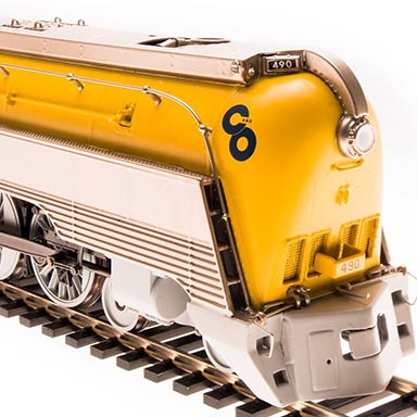 "New Hybrid ""Yellowbelly"" Hudson from Broadway Limited in HO"