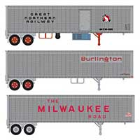 Trainworx 40ft Trailers in HO