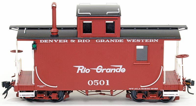 Accucraft Rio Grande Caboose in O scale