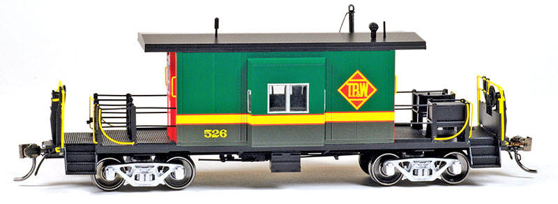 Tip-Up Transfer: Toledo, Peoria & Western Caboose in HO Scale from Bluford Shops