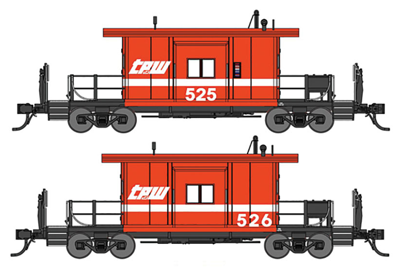 Bluford Shops TP&W Transfer Caboose