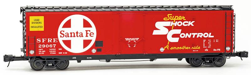 Santa Fe RR-75 50-foot Plug Door Boxcar from Atlas O