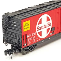 Santa Fe RR-75 50-foot Plug Door Boxcar from Atlas O