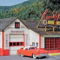Mine Mount Models introduces its fourth kit: Randy's Auto Repair