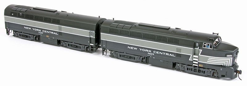 Striped Sharks on the Prowl: New York Central Baldwin RF-16 in HO Scale by Broadway Limited