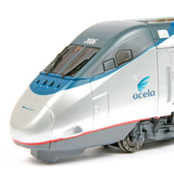 Bachmann's Amtrak Acela Express set in HO scale