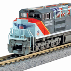 """Kato's N-scale SD70ACe Union Pacific """"Powered By Our People"""""""