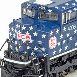 Broadway Limited's latest N-scale SD70ACe run includes KCS Veterans