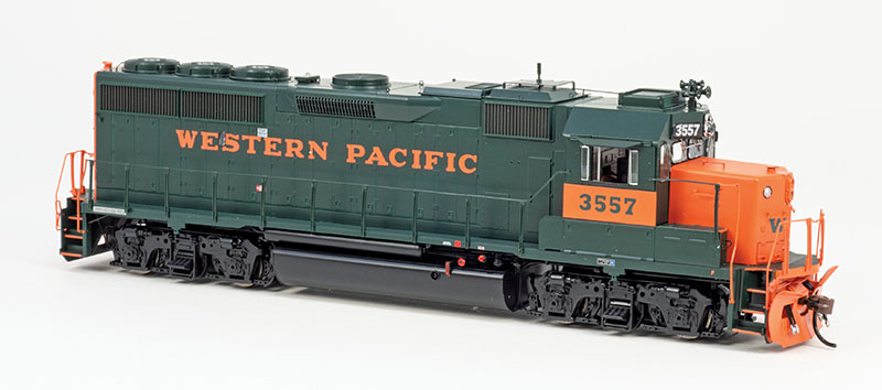 Western Pacific's GP40-2s from Athearn Genesis in HO