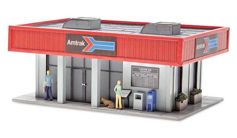 Amtrak station is new from Menards Collectibles in O scale