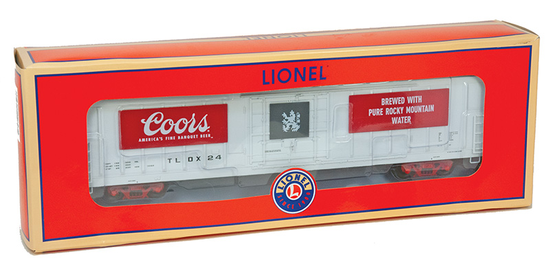 Rocky Mountain Beer Run Lionel's O-scale Coors Beer Car
