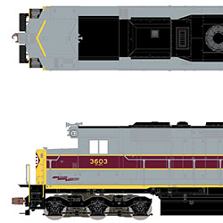 Enhancements for Erie Lackawanna SD45s from ScaleTrains.com