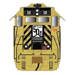 Atlas will offer GP40 in HO, N, and O with Operation Lifesaver 50th Anniversary