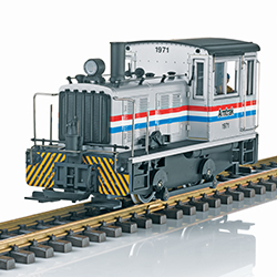 LGB G-scale Amtrak switcher comes equipped with DCC and sound