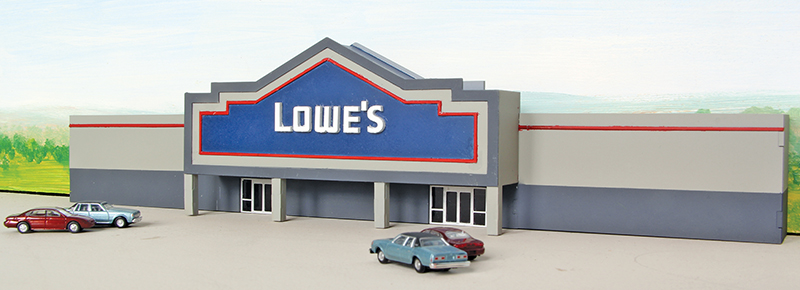 Lowe's backdrop building kit in N scale from Summit USA